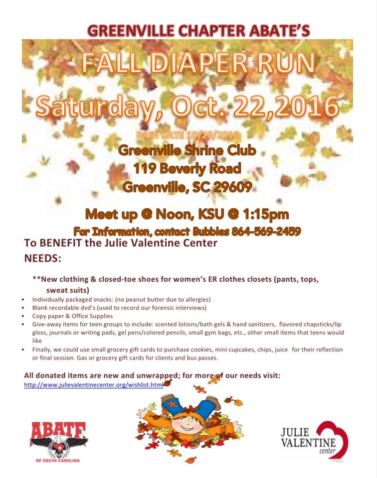 Fall Diaper Run, Sat. Oct 22